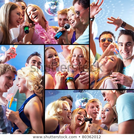 Woman having fun singing loudly Stock photo © photography33