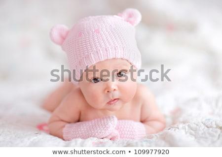 Portrait of a baby in knitting hat  Stock photo © dashapetrenko