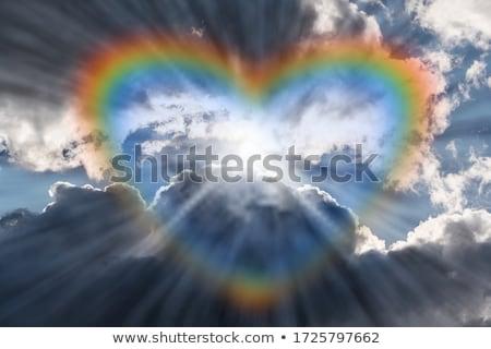 data · arco-íris · menino · escalada · menina · 3D - foto stock © artida