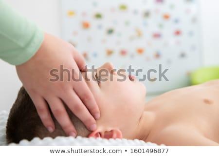 Masseurin Gesicht Massage Frau Körper Gesundheit Stock foto © photography33