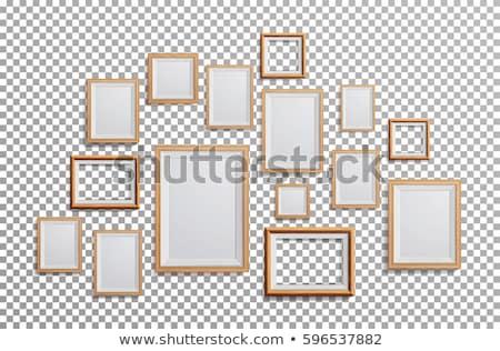 Vector lege houten frame illustratie zwarte textuur Stockfoto © orson