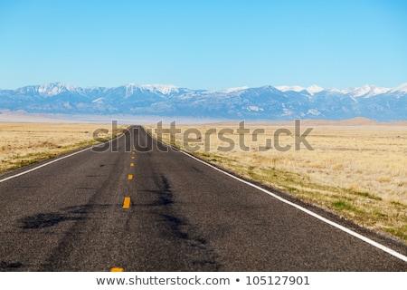 Empty freeway approaching mountains range Stock photo © AndreyKr