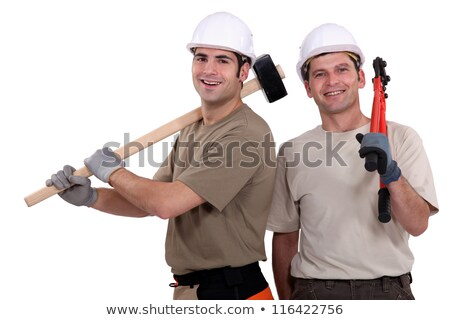 Two builder friends stood together Stock photo © photography33