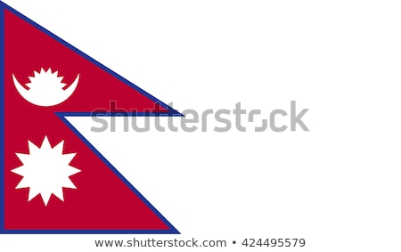 Political waving flag of Nepal Stock photo © perysty