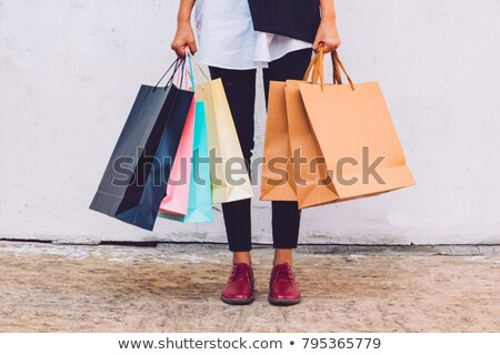 mulher · armazenar · porta · compras · compras - foto stock © photography33