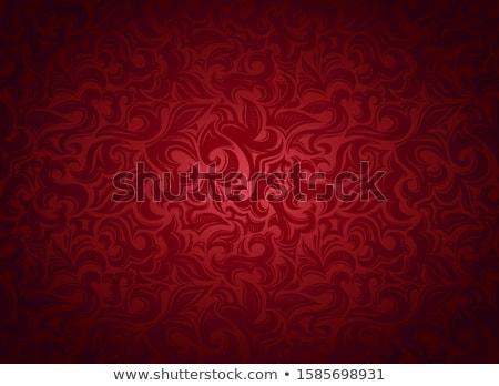 暗い 赤 ダマスク織 金 弓 テクスチャ ストックフォト © adamson