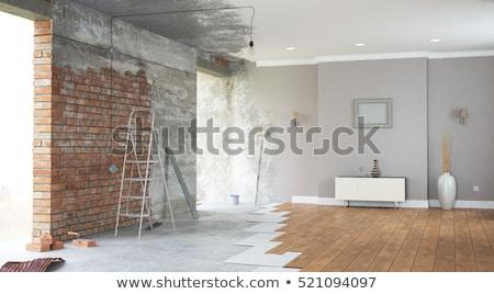 Sofá 3D construção moda mobiliário couro Foto stock © fixer00