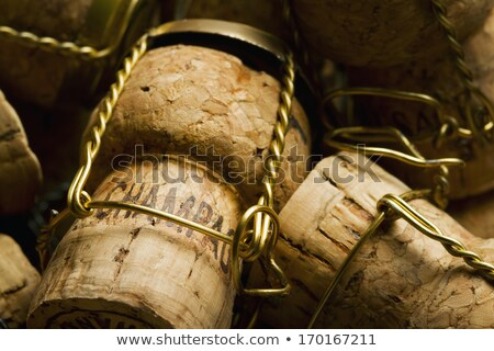 Corks of champagne close up stock photo © calvste
