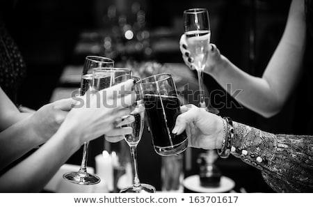 paar · restaurant · drinken · champagne · liefde · diner - stockfoto © photography33