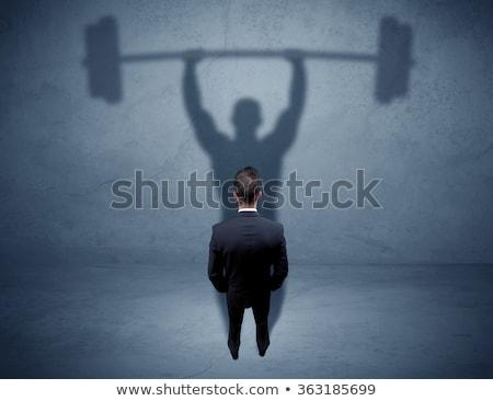 empresário · pesos · computador · fitness · homens - foto stock © photography33
