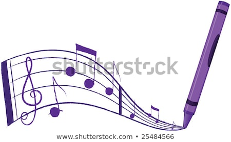 crayon · música · fora · roxo - foto stock © meshaq2000