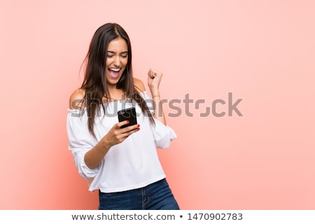 attractive brunette woman Stock photo © pdimages