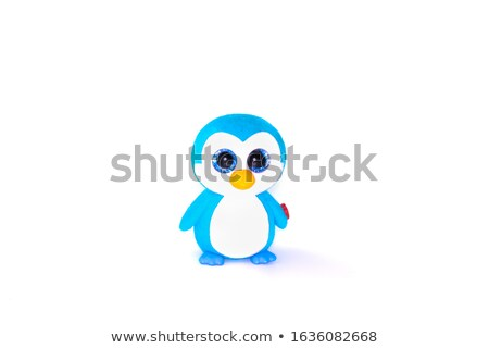 little girl playing with penguin figurines Stock photo © photography33