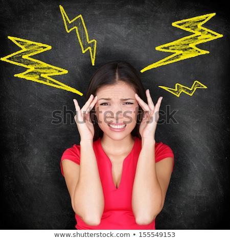 Vrouw lijden elektrische schok meisje gezicht Stockfoto © photography33