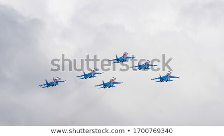 Six airplanes SU-27 Stock photo © Aikon