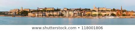 古い · ブダペスト · 早朝 · ドナウ川 · 川 · 銀行 - ストックフォト © AndreyKr