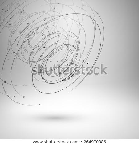 3d illustration of spiral business network connection stock photo © 4designersart