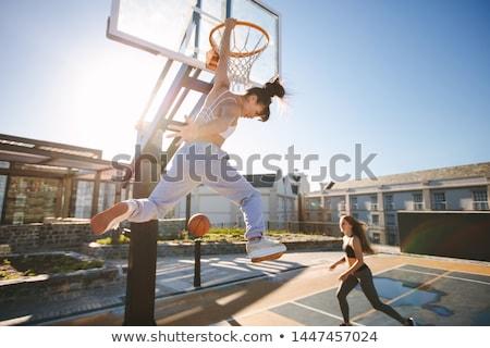 Stok fotoğraf: Iki · genç · kadın · oynama · oyun · esmer