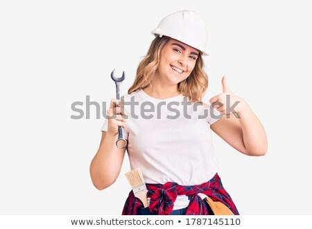 Happy female technician showing ok sign stock photo © wavebreak_media