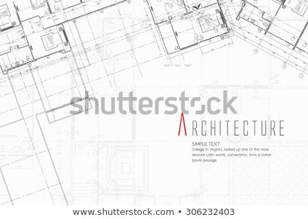 Domu szkic papieru streszczenie przezroczysty rysunek Zdjęcia stock © romvo