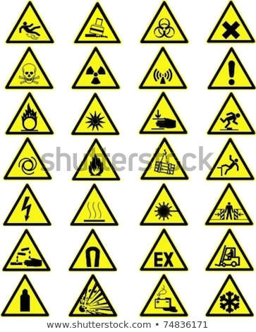 放射性 危険 黄色 ボタン 注意 放射線 ストックフォト © gubh83