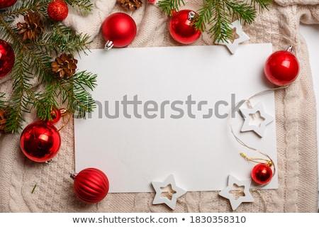 vidám · karácsony · mikulás · üzenet · tábla · hó - stock fotó © sgursozlu