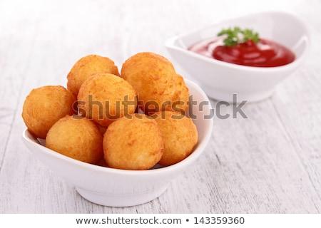 ジャガイモ ケチャップ ボール ディナー 新鮮な 食事 ストックフォト © M-studio