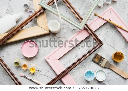 akril · festék · keret · szett · terv · keret - stock fotó © taigi