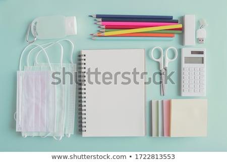 Visszatérés iskola vissza az iskolába ceruza radír szavak Stock fotó © Lightsource