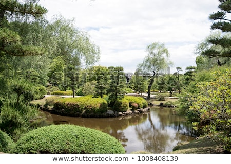 traditional japanese landscaped garden in kyoto japan Stock photo © travelphotography