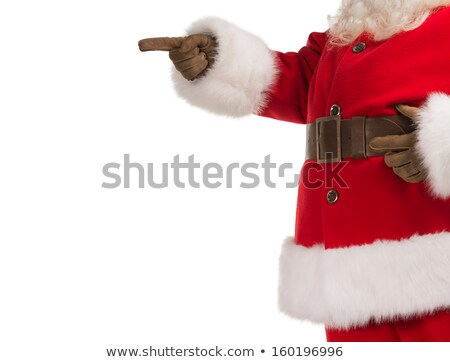 Unrecognizable Santa Claus gesturing his hand isolated over whit Stock photo © HASLOO