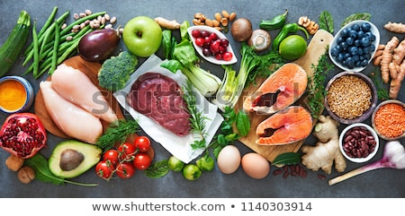 legume,meat and vegetables Stock photo © M-studio