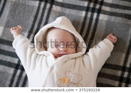 newborn baby waking up stock photo © arenacreative