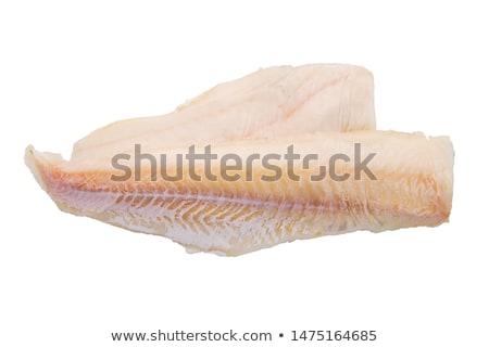 Balık fileto yalıtılmış kırmızı beyaz gıda Stok fotoğraf © Givaga