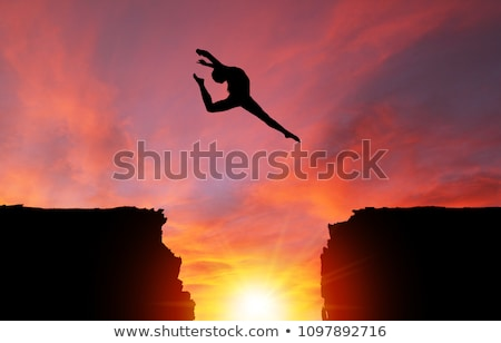 Woman leaping up Stock photo © maros_b