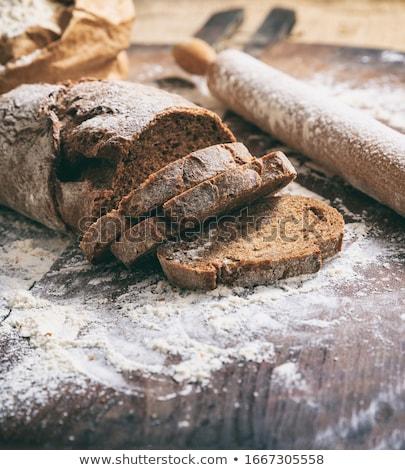 燕麦 クローズアップ 木板 食品 トウモロコシ ボード ストックフォト © Leonardi