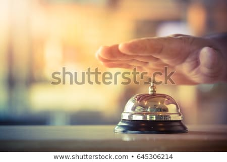 ヴィンテージ · サービス · 鐘 · 古い · ホテル · 受付 - ストックフォト © mady70