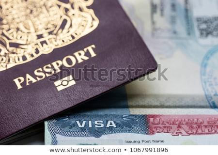 immigration · tampon · imprimer · Voyage · aéroport - photo stock © chrisdorney
