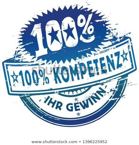 100 kompetenz rubber stamp stock photo © burakowski