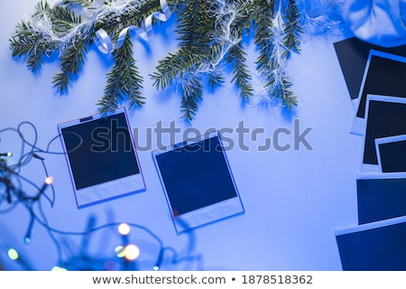 kolorowy · drzewo · płatki · śniegu · wesoły · karty · pory · roku - zdjęcia stock © shawlinmohd