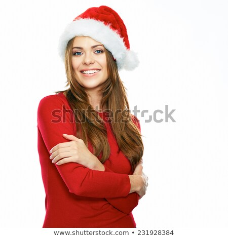 santa claus woman with arms crossed stock photo © jaycriss