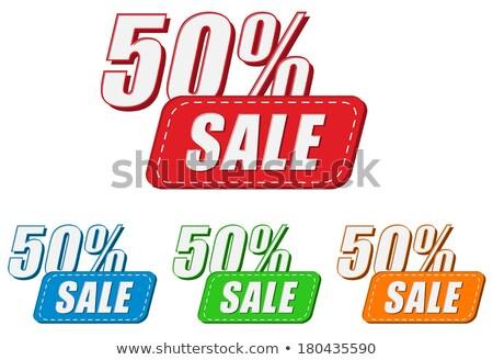 50 percentages af vier kleuren Stockfoto © marinini