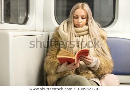 nő · néz · ki · vonat · ablak · utazó - stock fotó © candyboxphoto