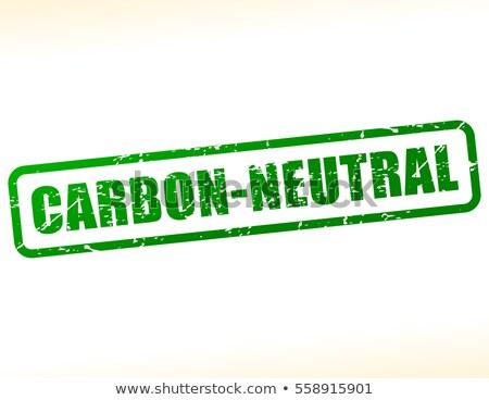 Etiket metin karbon nötr turuncu yazı Stok fotoğraf © Zerbor