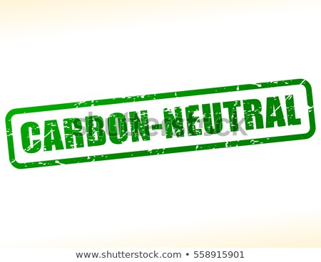 Etiqueta texto carbono neutro laranja escrita Foto stock © Zerbor