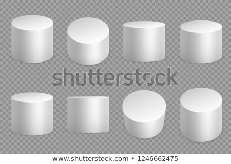 Cilindro isolado branco moda fundo seis Foto stock © Elnur
