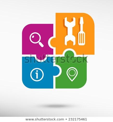 Llave mantenimiento apoyo herramienta icono Foto stock © Istanbul2009