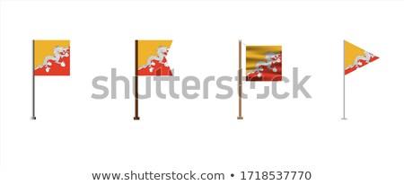 Foto stock: Butão · pequeno · bandeira · mapa · reino · foco