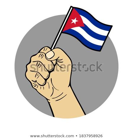 キューバ 小 フラグ 地図 共和国 選択フォーカス ストックフォト © tashatuvango