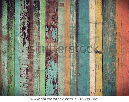 real wood planks on wall Stock photo © taviphoto